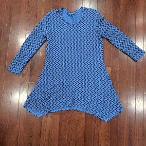 Stretchy blue tunic